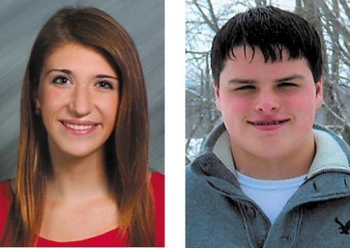 Lauren Daas (left) and Zachary Shearer.