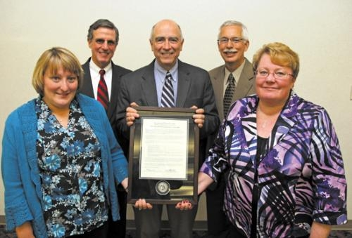 Pathfinder Services received the 2012 Distinguished Service Award from the Huntington University Foundation.