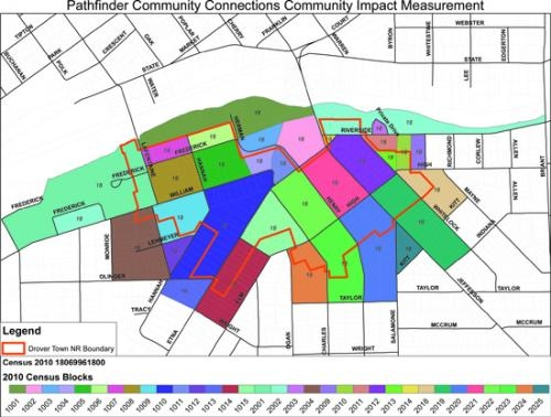 All of the colored blocks on this map will be included in the Communities for a Lifetime project, which will begin with a door-to-door survey in March and April to determine how best to spend $662,000 to improve the neighborhood's livability.