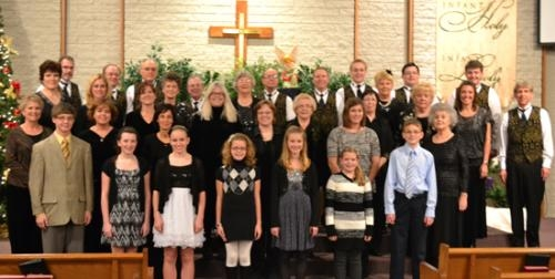 The Adult Choir of Evangelical United Methodist Church will present a Christmas musical Dec. 13, 14 and 16.
