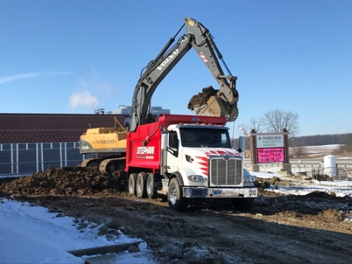 Despite some challenging weather conditions in recent weeks, excavation was started at Parkview Huntington Hospital for a 20,000-square foot expansion that will house the Holly D. Sale Rehabilitation and Wellness Center and a wound clinic.