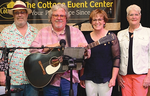 Members of the Fleetwood Band, (from left) Jim Amstutz, Barry Fleetwood, Pam Fleetwood and Christine Smith, will play at the Cottage Event Center on Friday, Dec. 18.