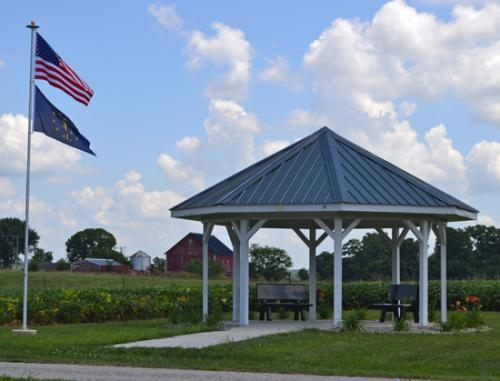 This gazebo at Riverside Cemetery, Andrews, which was built in memory of the late Bob and Vera Deal, will be dedicated on Aug. 17 during the Andrews Summer Festival.