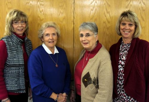 Parkview Huntington Hospital Guild officers for 2013 were elected and installed Nov. 27. They are (from left) Susan Smith, vice president; Phyllis Pieper, treasurer; Pat Hall, secretary; and Vicki Patrick, president.