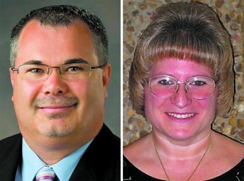 Pictured (from left) Donnie Haire and Tara Hunnicutt