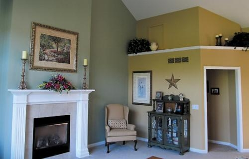 The living room of Shawn and Michelle Haupert's home is decorated in soft sage and creamy yellow. The home is one of five sites included on the Tri Kappa Housewalk on Oct. 14.