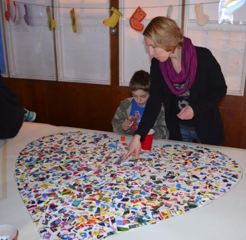 Local artist Angela Sands Ellsworth collaborated with the LaFontaine Arts Council to offer a creative art project opportunity for members at the Boys & Girls Club of Huntington County. The finished project will be unveiled during Arts Express on March 23.