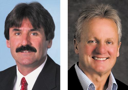 Leon Hurlburt (left) and Rob Miller.