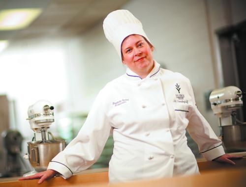 Jill Vandegriff is a student ambassador for the Ivy Tech culinary arts program, which will prepare a gourmet meal to be served during the Huntington North High School Varsity Singers' Pomp & Plenty event on Nov. 17.