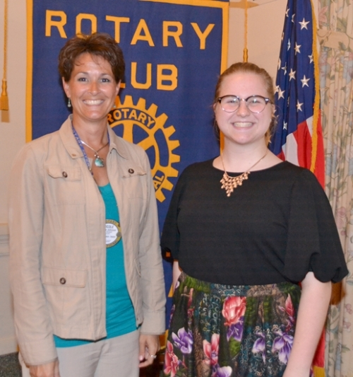 Gillian Lintz (right) is a Junior Rotarian with the Huntington Rotary Club for November. With her is Rotary Club sponsor Nicole Johnson.