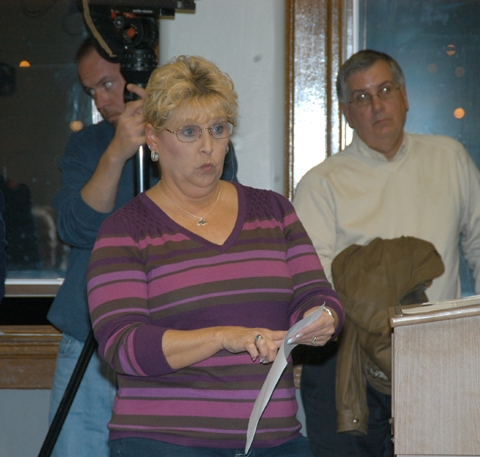 Huntington County Auditor Kathy Juillerat speaks during the Huntington Common Council meeting on Tuesday, Nov. 10.