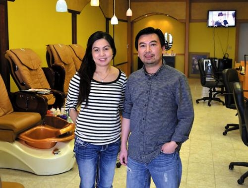 Jenny and Long Nguyen are the new owners and operators of KT's Nails, in Huntington. Located in the Huntington Plaza, the business was acquired on Dec. 12.