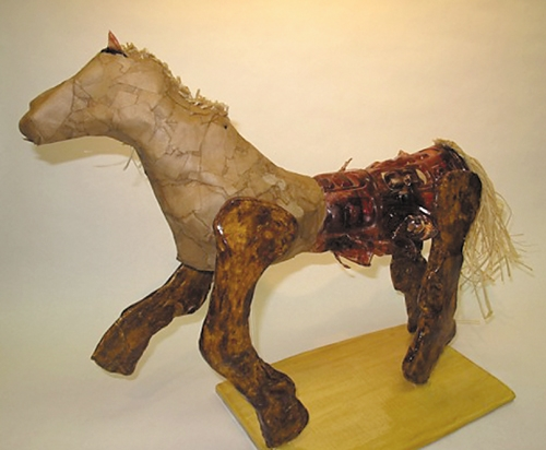 A horse sculpture earned Riverview  student Kortney Konz a Gold Key in the Regional Scholastic Art contest.