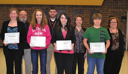 The LaFontaine Arts Council's Artists of the Month for February from Riverview Middle School.