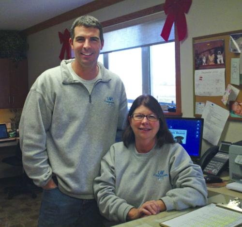 The son and mother team of William Law (left) and Deb Law are celebrating the 25th anniversary of Law's Country Kennel, in rural Roanoke.