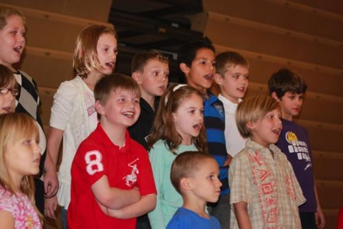 A group of Lincoln Elementary School students sings during last year's Heith Garner Scholarship Spaghetti Dinner and Talent Show at the school. More talent will be showcased at this year's dinner, set for Friday, Oct. 4, from 5 p.m. to 8 p.m.