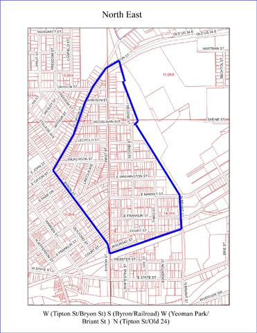 Residents living inside this area are invited to attend a meeting Oct. 26 ex;loring the organization of a neighborhood association.
