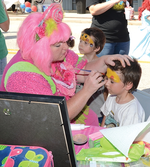 Block Party Face Painting Huntington County Tab