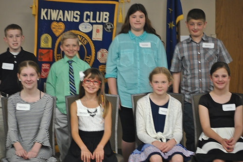 Students honored by Huntington Metro Kiwanis as TERRIFIC Kids are (front from left) Margaret Guerre, Gabby Betterly, Hannah Haupert and Sophie Hart; and (back from left) Phoenix Stepler, Levi Shane, Brooke Beeks and Mason Lusch.