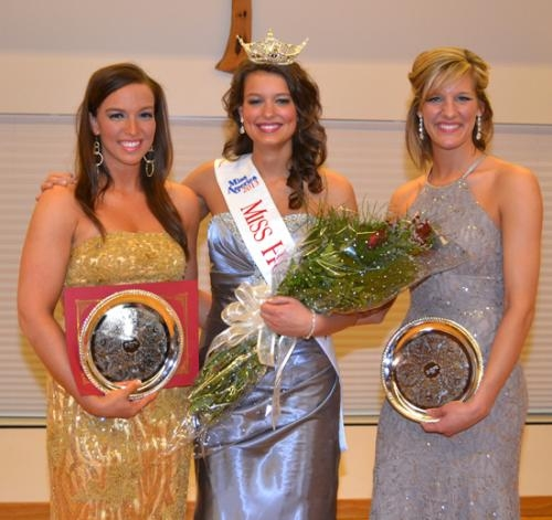 The 2013 trio of royalty includes (from left) Alli Harris, first runner-up and community service award winner; Sara Alford, Miss Huntington 2013 and Madison Kroh, second runner up.