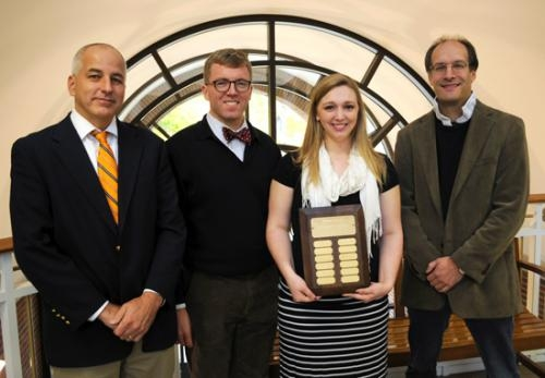 Huntington University senior Stephanie Morin (third from left) recently won the first-ever Centre for Non-Western Studies' best non-western essay prize.