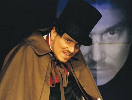 "Bart Willard is Edward Hyde in the Pulse Opera House production of ""The Strange Case of Dr. Jekyll and Mr. Hyde,"" which opens Friday, Sept. 20, on the downtown Warren stage."