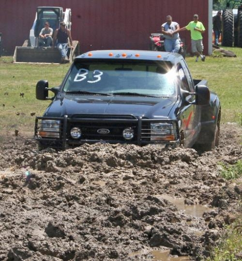 A contestant in a past year's Andrews Mud Bogs tries to power through the mire. The event, sponsored by the Andrews Volunteer Fire Department, will be held on Saturday, Aug. 24.