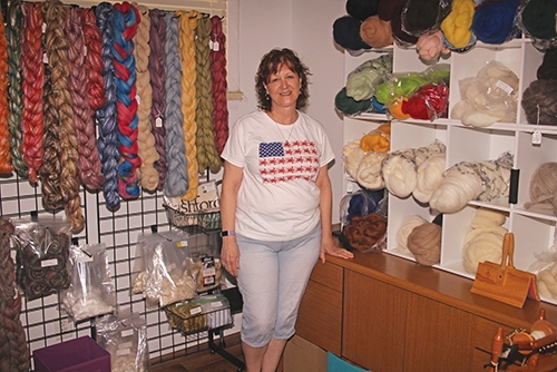 Phia Shanelec is the owner of The Little Shop of Spinning, in Roanoke. The shop, located at 303 E. Second St., opened in June and sells spinning wheels, looms and related products.