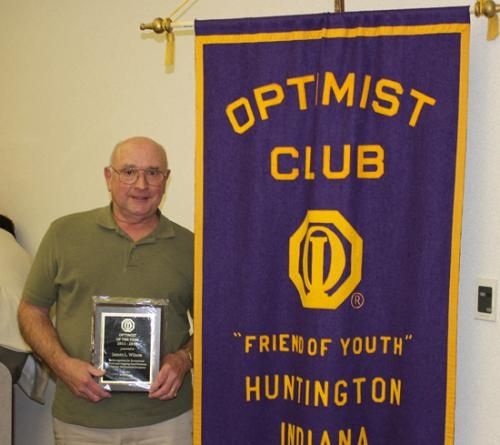 Huntington Resident Jim Wilson has been named Optimist of the Year by the Huntington Optimist Club.
