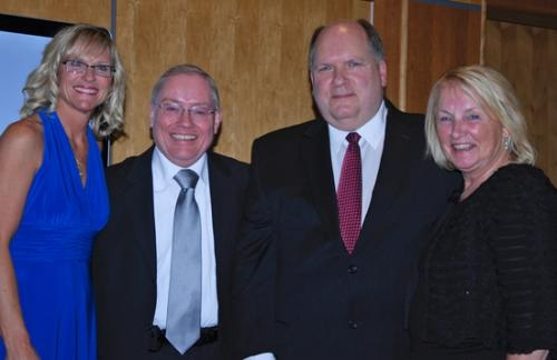 Dr. Duane Hougendobler (second from left) is the recipient of the 2012 Dr. R.B. Peare and Dr. John B. Kay Excellence in Healthcare Award.