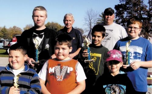 Winners from the PAL's (Police Athletic League) fishing derby on Oct. 21.