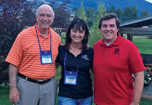 Pathfinder Services President and CEO John Niederman (left) joins Suzanne Anarde (center), vice president of Rural LISC, and Pathfinder Services board member Richard Strick at the recent Rural LISC annual seminar in Bozeman, MT.
