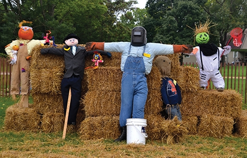 Scarecrows watch over the 2016 Forks of the Wabash Pioneer Festival, the first year for the scarecrow making contest. The contest returns this year, with students in kindergarten through eighth grade invited to enter their creations for a chance to win cash prizes.