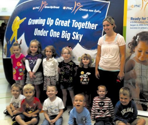 "Kids Kampus enjoyed the ""One World, One Sky"" Planetarium Tour sponsored by PNC on Sept. 17."