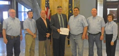 "The Huntington County Soil and Water Conservation District Board of Supervisors met with the Huntington County Commissioners for the signing of a proclamation designating the week of April 28 as  ""Stewardship Week."""