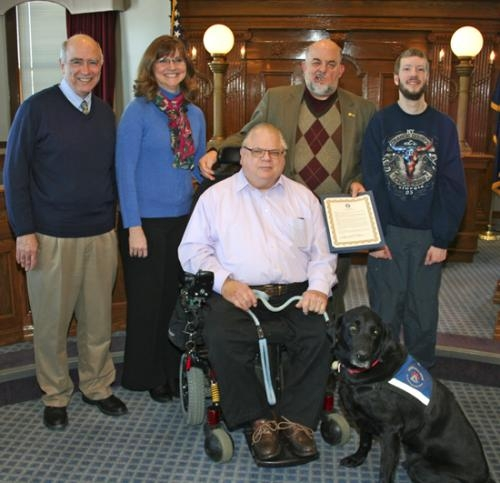 """Huntington Mayor Brooks Fetters, following Indiana Gov. Mike Pence's lead, proclaimed the month of March as """"Disability Awareness Month"""" on Monday, March 3."""