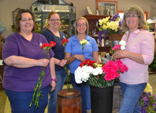 Huntington County Right to Life is working with Huntington Nursery and Florist to prepare carnations for RTL's annual Mother's Day carnation sale May 10-12.