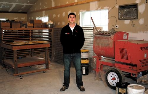 Matthew Reust is the owner of Stone Creations Inc. The business offers custom handmade concrete and is located in Bippus.