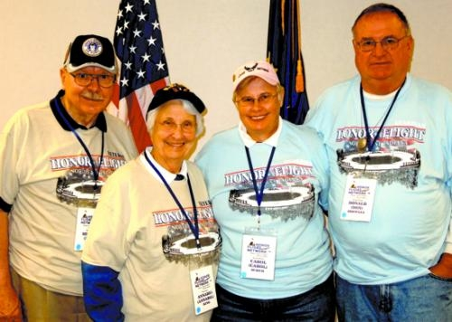 Among the 70 area veterans participating in the Oct. 17 Honor Flight to Washington, DC, were (from left) Mel and Annabel Ring, Carol Scher and Don Doswell.