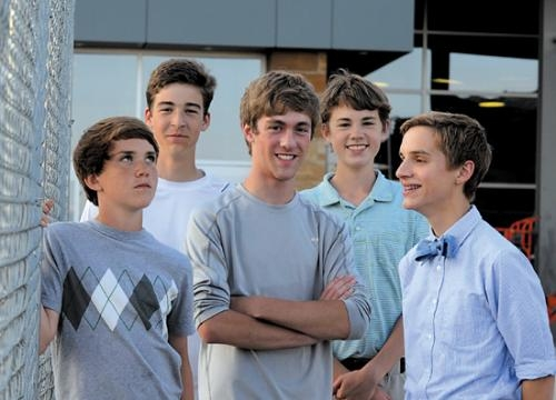 The Barking Greene Lamms will be one of the teen bands performing during the First Friday Street Fair. Band members are (from left) Merritt Lamm, bass and vocals; Jake Allen, keyboard; Jacob Rockey, vocals; Davis Lamm, drums; and Rob Greene, guitar.