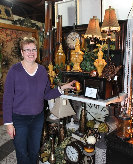 Jacki Budrow and her husband Bill are owners of Real Deals on Home Décor, which recently opened in Roanoke. Budrow says the store offers a variety of one-of-a-kind items.