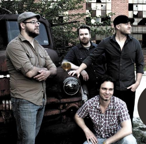 Roustabout, one of two bands to be featured during the Relay for Life on Saturday, June 8, includes members (kneeling) Chris Kauffman and (standing, from left) Justin Barker, Joey Spiegel and Bob Thompson.