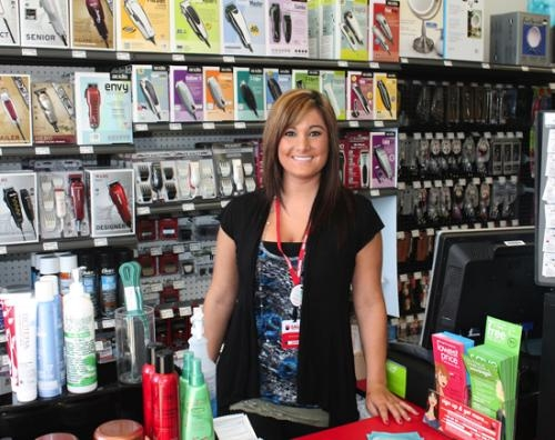 Jessica Sidoti is the store manager at Sally Beauty Supply, a supplier of professional salon products and equipment. Sidoti says the store is not just for salon professionals as it is open to the public.