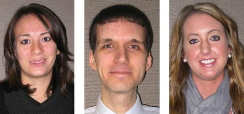 New additions to the staff at First Federal Savings Bank are (from left) Cassandra Schroder, Jared Brooks and Christa Parrett.