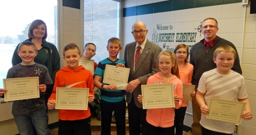 Regan Presents Award For Dental Science Project Huntington County Tab