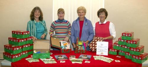 Operation Christmas Child Shoebox Display.Stories Of Children Getting Gifts Is What Fuels Shoebox