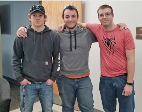 Huntington North High School precision machining students (from left) Sam White received third place, Colt Coblentz received fourth place and Jacob Haneline received first place in the Precision Machining competition during the recent Regional SkillsUSA competition at Ivy Tech Community College Northeast.