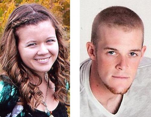 Rebecca Smith (left) and Caleb Richison.