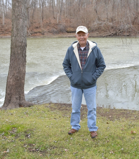 Phil Smith stands on his property overlooking the Wabash River. Smith donated his almost seven acres of land to the Tel-Hy Nature Preserve.