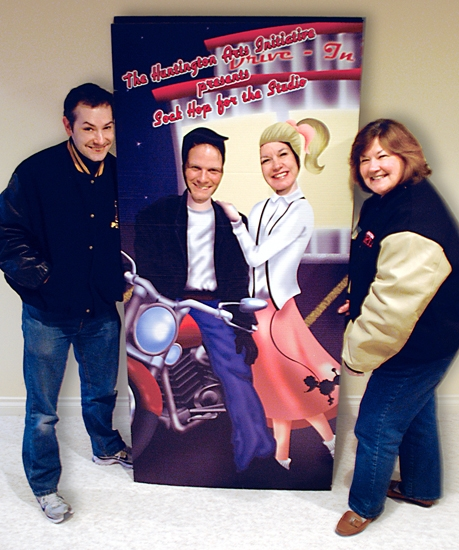 "The Huntington Arts Initiative is sponsoring ""Sock Hop for the Studio"" on April 16. Pictured are (from left) Joel Froomkin, Rich Najuch, Debbie Dyer and Ann Siegfried – all of the Initiative."